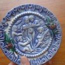 Antigüedades: PLATO CERÁMICA EN RELIEVE NIÑOS O ANGELITOS. Lote 43279382