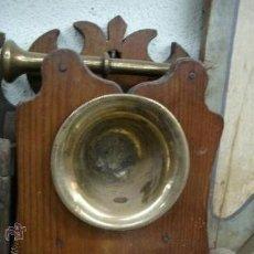 Antigüedades: ANTIGUO ALMIRECERO CON ALMIREZ DEL SIGLO XVIII Y XIX - AMBOS ORIGINALES DE LA ALBERCA - SALAMANCA. Lote 37342904