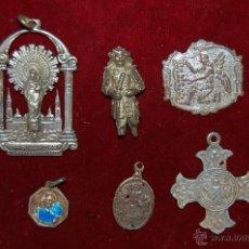 Antigüedades: LOTE DE 6 PIEZAS RELIGIOSAS, MEDALLAS ETC.. VER FOTOGRAFÍAS. Lote 43288372