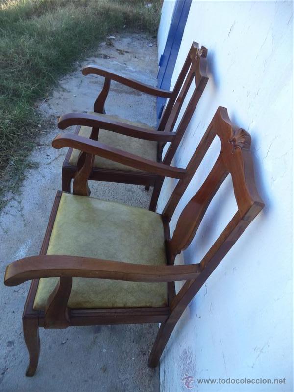 Antigüedades: parejas de sillones antiguos - Foto 3 - 43293655