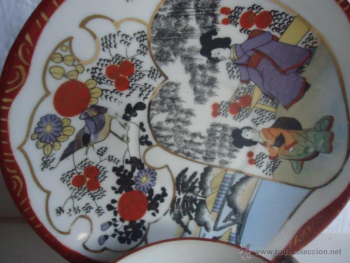 Antigüedades: PLATO Y TAZA JAPON CASCARA DE HUEVO PORCELANA JAPONESA. TAZA PORCELANA JAPON - Foto 3 - 43299426