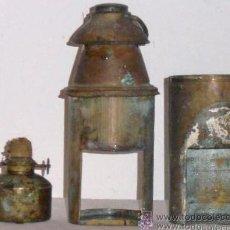 Antigüedades: FAROL, QUINQUE, LAMPARA DE COMBUSTION A PETROLEO, A MECHA, DE PESCA O MINERIA. Lote 28630010