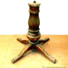 Antigüedades: LOTE 2 PIES DE MESA. 1 COMEDOR NOGAL. 1 VELADOR ISABELINO. Lote 43321697