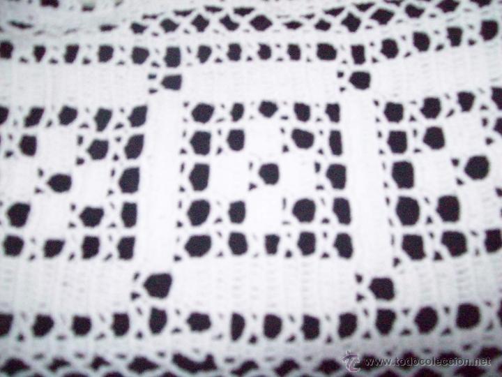 Antigüedades: Cortina ganchillo, pieza hecha a mano - Foto 5 - 43331081
