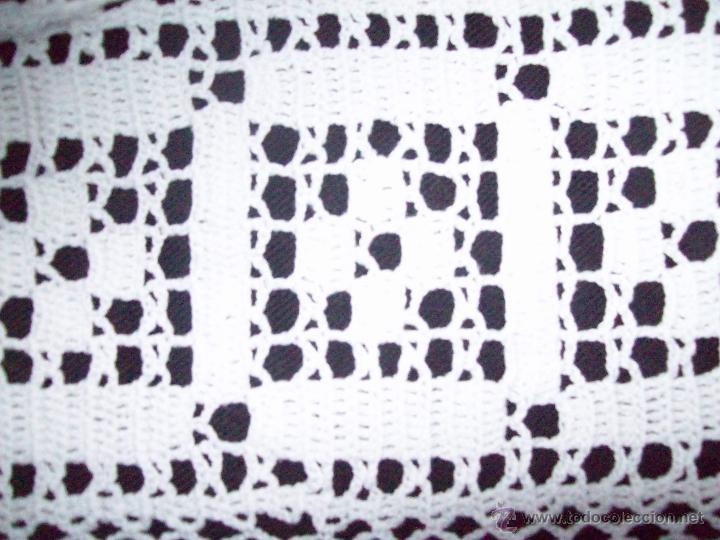 Antigüedades: Cortina ganchillo, pieza hecha a mano - Foto 6 - 43331081