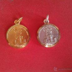 Antigüedades: PAREJA DE MEDALLAS RELIGIOSAS. . Lote 43334665