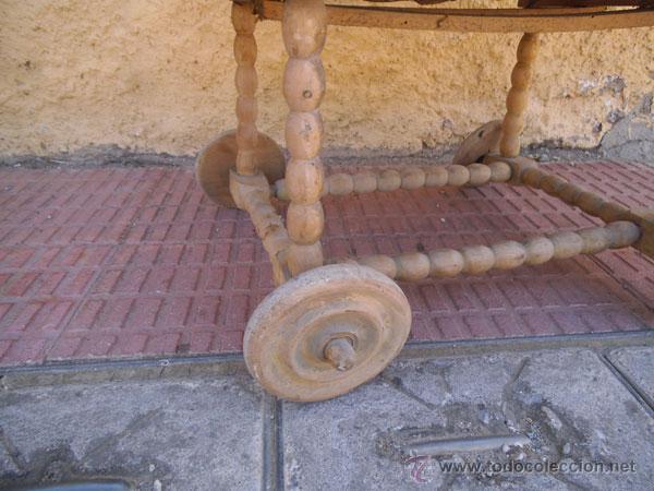 Antigüedades: FABULOSA CUNA DE MIMBRE CON PATAS Y RUEDAS DE MADERA - Foto 11 - 212252157