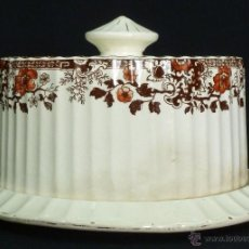 Antigüedades: QUESERA DE LOZA INGLESA , 1888-1898. Lote 43343818