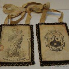 Antiquitäten - Antiguo Escapulario. S.XIX. Ntra. Sra. del Carmen - 43348726