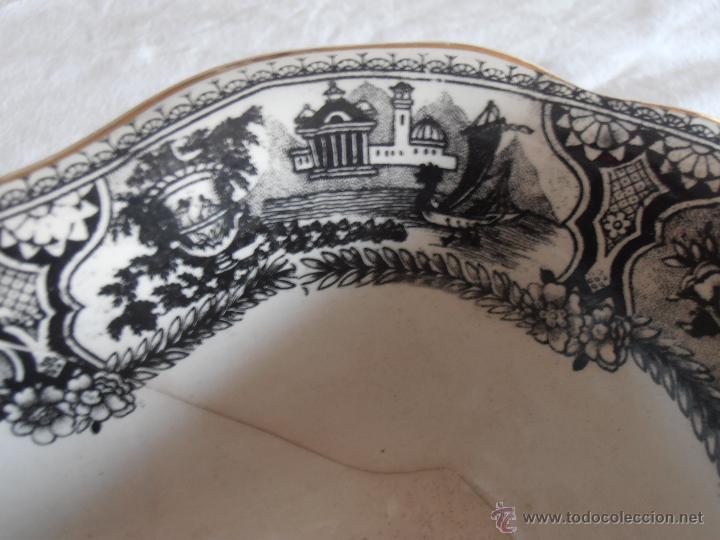 Antigüedades: BANDEJA, FUENTE CENTRO DE PORCELANA, POSIBLEMENTE VARGAS - Foto 9 - 43350157