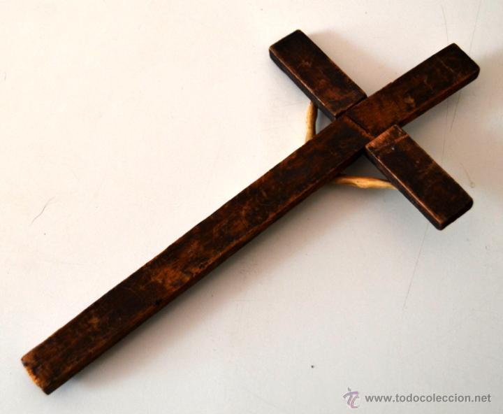 Antigüedades: ANTIGUO CRISTO MARFIL * HUESO SOBRE CRUZ * CRUCIFIJO - Foto 9 - 43365629