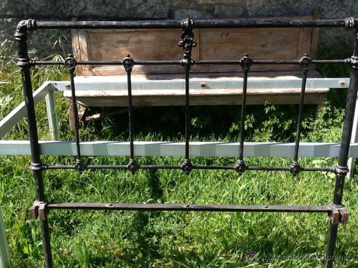 Antiguo cabecero de cama de hierro comprar camas antiguas en todocoleccion 43370834 - Camas de hierro antiguas ...