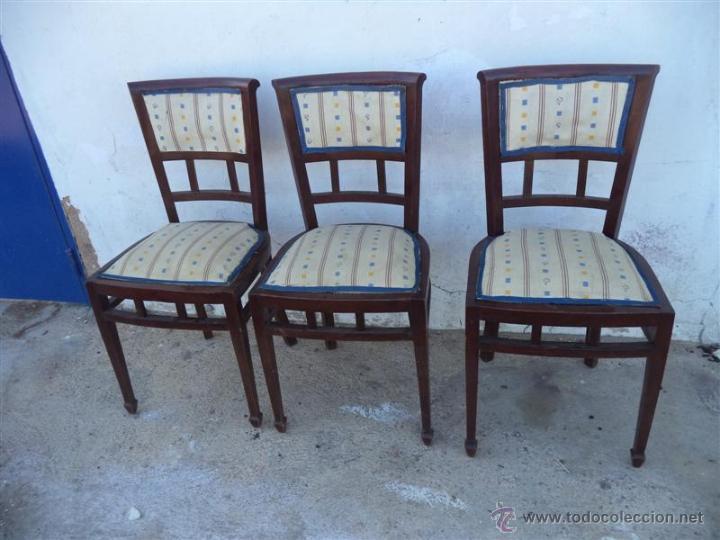 3 SILLAS ANTIGUAS (Antigüedades - Muebles Antiguos - Sillas Antiguas)