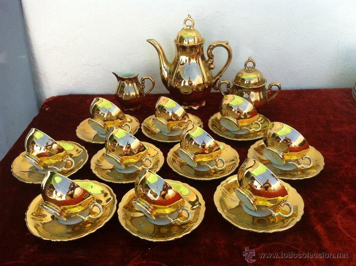 Juego antiguo de cafe en porcelana de bavaria c comprar - Bano de oro precio ...