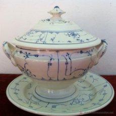 Antigüedades: SOPERA ANTIGUA GRANDE EN SEMIPORCELANA FINALES DEL SIGLO XVIII. Lote 43388048