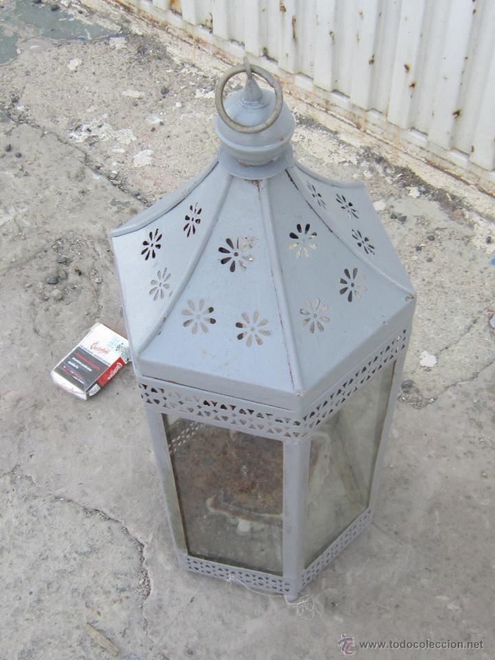 Antigüedades: FAROL EN METAL - Foto 2 - 43389110