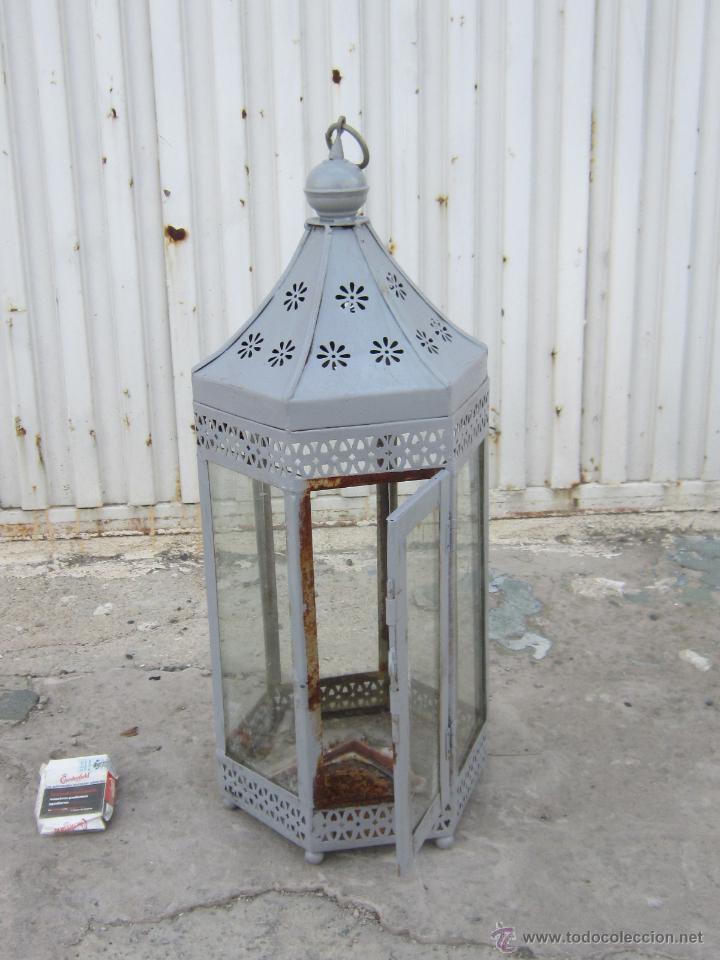 Antigüedades: FAROL EN METAL - Foto 3 - 43389110