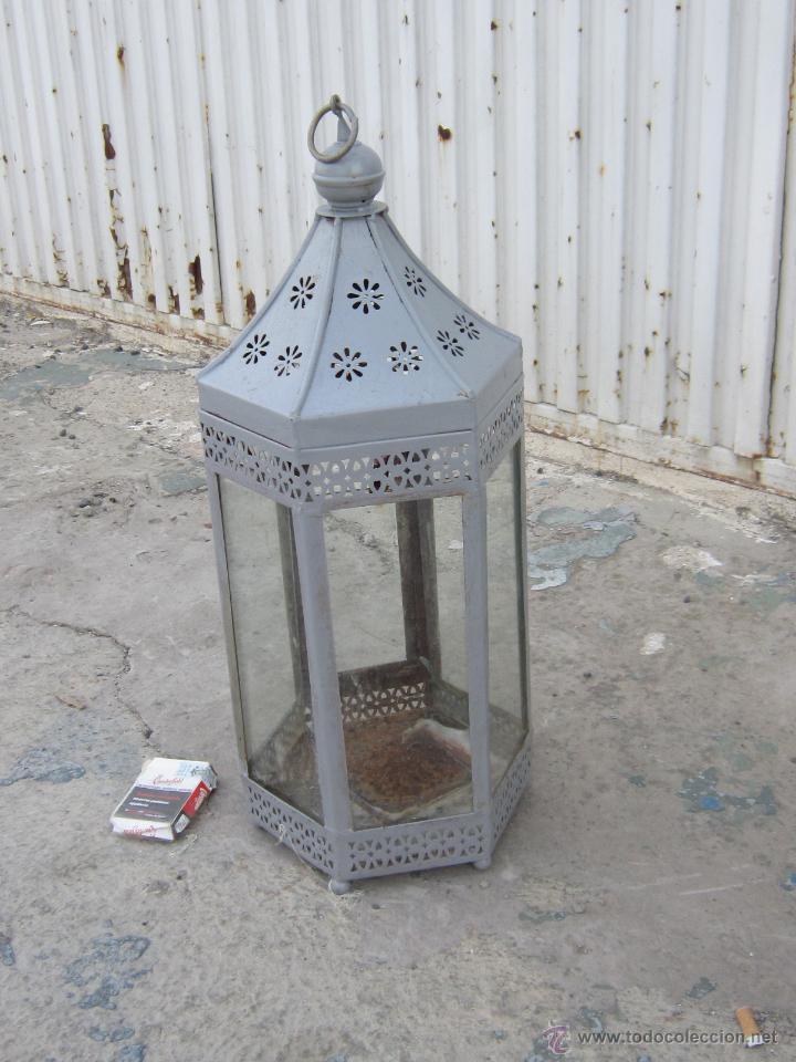 Antigüedades: FAROL EN METAL - Foto 4 - 43389110