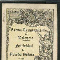 Antigüedades: FESTIVIDAD DE NUESTRA SRA DE LOS DESAMPARADOS - 1953. Lote 43415364