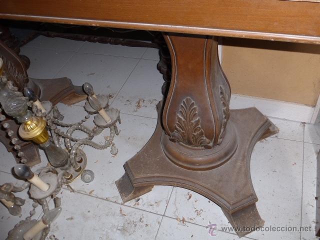 Antigua mesa de comedor de libro con las patas comprar for Baneras antiguas con patas baratas