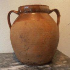 Antigüedades: ORZA DE BARRO ANTIGUA, VASIJA, RECIPIENTE. Lote 43425154