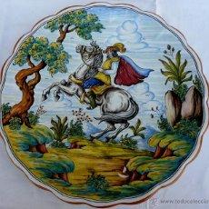 Antigüedades: GRAN FUENTE PINTADO A MANO Y FIRMADO. Lote 43444656