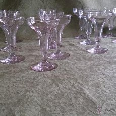 copas antiguas cristal soplado. vidrio españa