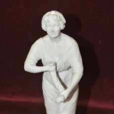 Antigüedades: BONITO BISCUIT EN PORCELANA FRANCESA DE LIMOGES. TALLER DE TEISSONNIERE. FIRMADA. Lote 43471035