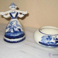 Antigüedades: PAREJA DE CERAMICA DE DELFT. Lote 43493383