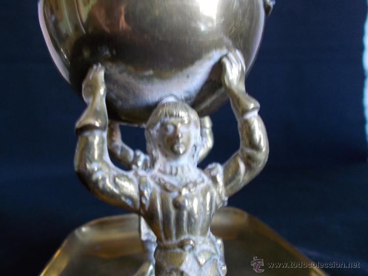 Antigüedades: HERMOSO PÍXIDE U HOSTIARIO DE IGLESIA, EN METAL DORADO, DE PPS. SIGLO XX. - Foto 7 - 43496063