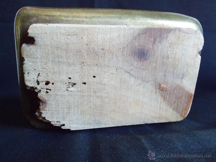 Antigüedades: HERMOSO PÍXIDE U HOSTIARIO DE IGLESIA, EN METAL DORADO, DE PPS. SIGLO XX. - Foto 10 - 43496063