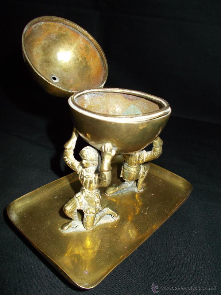 Antigüedades: HERMOSO PÍXIDE U HOSTIARIO DE IGLESIA, EN METAL DORADO, DE PPS. SIGLO XX. - Foto 11 - 43496063