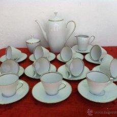 Antigüedades: JUEGO ANTIGUO DE CAFÉ EN PORCELANA DE BAVARIA SELLADO. Lote 43501004