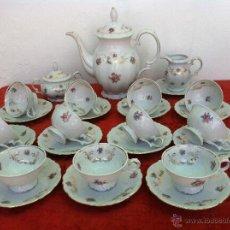 Antigüedades: JUEGO ANTIGUO DE CAFÉ EN PORCELANA DE BAVARIA SELLADO. Lote 43501062