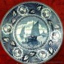 Antigüedades: PLATO ANTIGUO EN SEMIPORCELANA SELLADO DELFT. Lote 43503517
