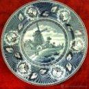 Antigüedades: PLATO ANTIGUO EN SEMIPORCELANA SELLADO DELFT. Lote 43503528