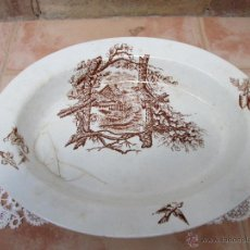 Antigüedades: ANTIGUA FUENTE DE LOZA DE LA FABRICA DE SAN JUAN DE AZNALFARACHE (SEVILLA). Lote 43504286