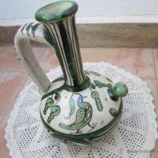 Antigüedades: ANTIGUO BOTIJO DE CERÁMICA DE TERUEL DOMINGO PUNTER.. Lote 87281458