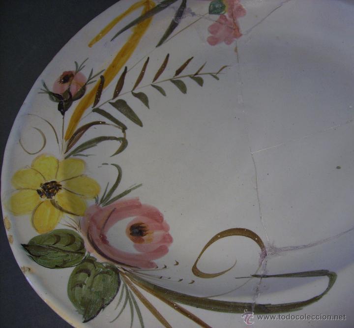Antigüedades: GRAN PLATO CERAMICA DE MANISES - Foto 4 - 43507038