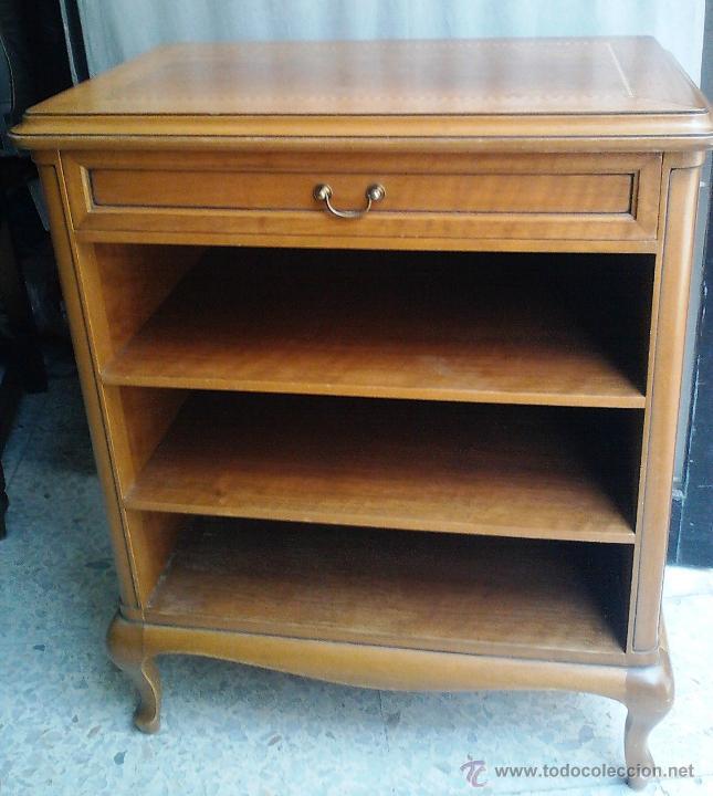 Antigüedades: Antiguo Mueble auxiliar, madera maciza noble .Con marqueteria - Foto 2 - 43509792