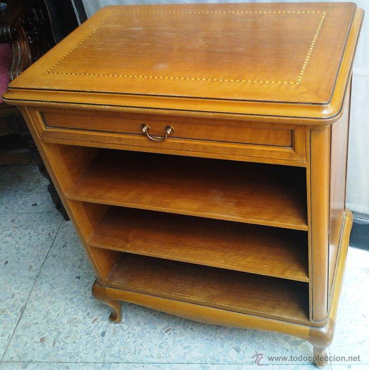 Antigüedades: Antiguo Mueble auxiliar, madera maciza noble .Con marqueteria - Foto 3 - 43509792