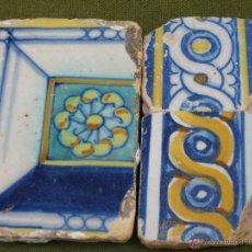 Antigüedades: LOTE DE 3 AZULEJOS ANTIGUOS DE TALAVERA O TOLEDO. SIGLOS XVI Y XVII. AZULEJO.. Lote 43513423