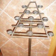 Antigüedades: CURIOSO LAMPADARIO,PORTAVELAS DE IGLESIA.. Lote 43521000