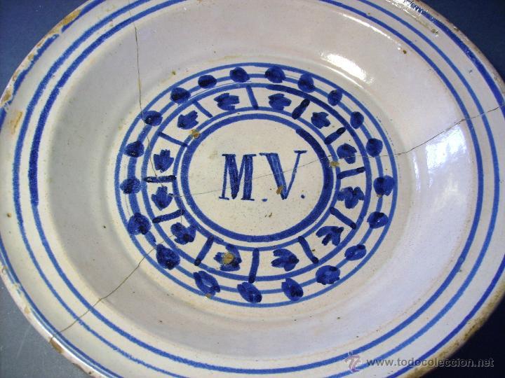 Antigüedades: GRAN PLATO ARAGONES DE MUEL XIX - Foto 3 - 43523055