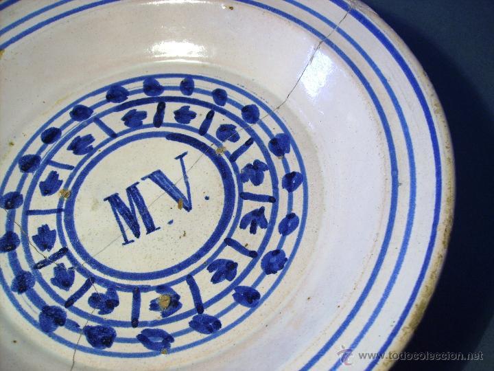 Antigüedades: GRAN PLATO ARAGONES DE MUEL XIX - Foto 5 - 43523055