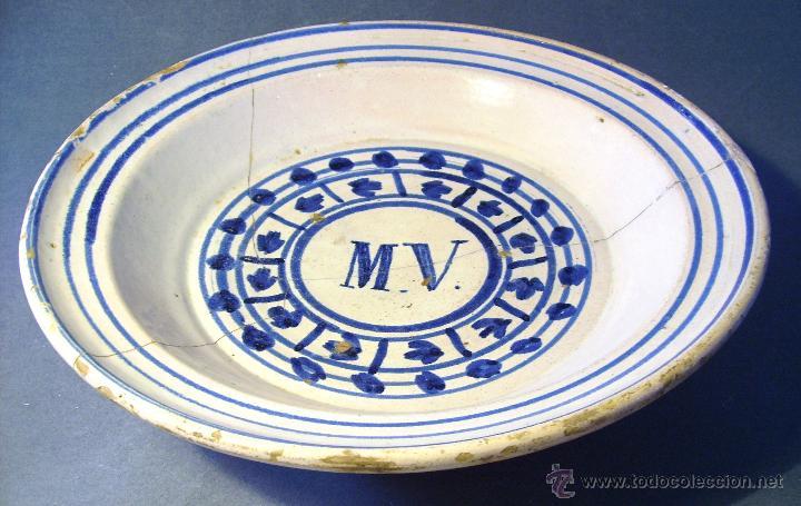 Antigüedades: GRAN PLATO ARAGONES DE MUEL XIX - Foto 9 - 43523055