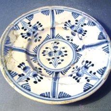 Antigüedades: PLATO CERAMICA CATALANA XVIII . Lote 43523075