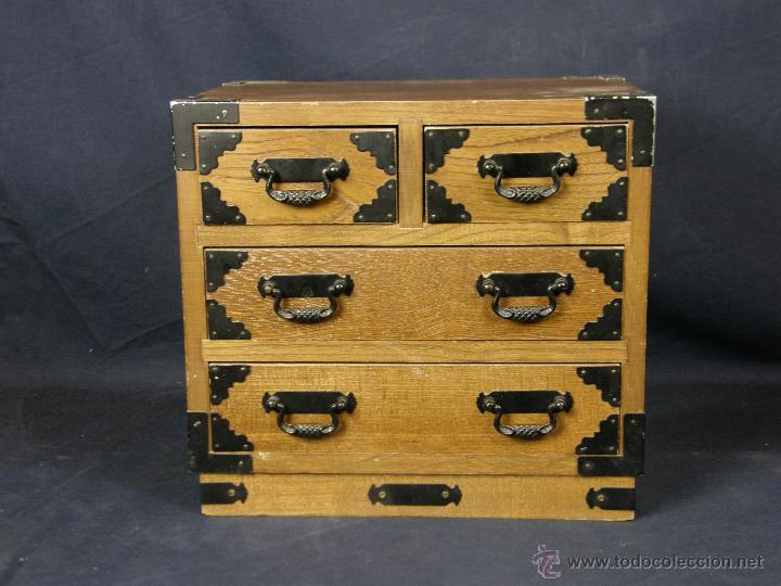 Peque o mueble japones cajones escritorio papel comprar for Herrajes muebles antiguos