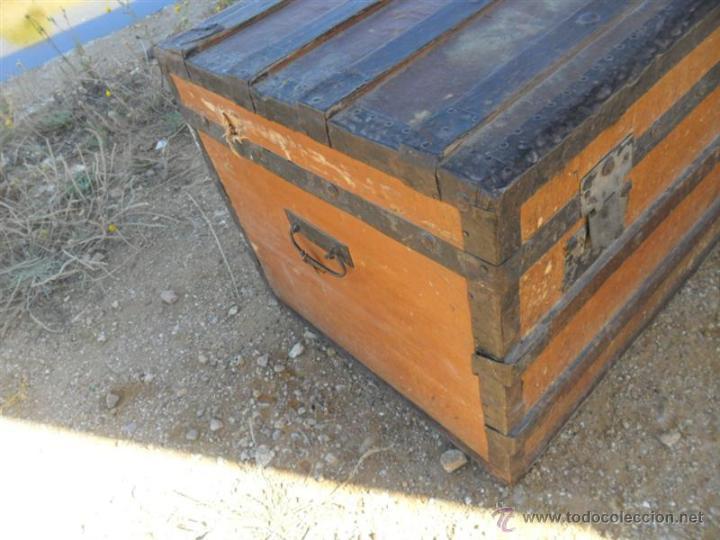 Antigüedades: baul de viaje - Foto 2 - 43527260