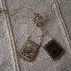 Antigüedades: ANTIGUO PEQUEÑO ESCAPULARIO SIGLO XX.. Lote 43527663